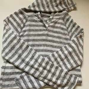 Girls SO hooded striped long sleeve size 10.